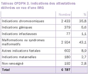 IMG (interruption médicales de grossesse) : nombre et raisons en France