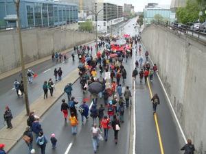 Manifestation pro-choix montréal